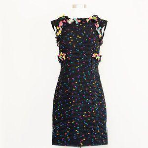 Per Se by Carlisle Black Textured Multicolor Dress